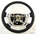 View Item Range Rover L322 Steering Wheel SOFT BLACK LEATHER+CHROME SPOKES Heated 09-Spec